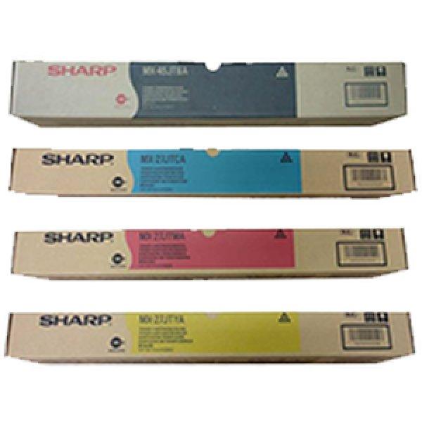 画像1: シャープ MX-45JT 純正トナー、MX-27JT カラー3色 ■4色セット (1)
